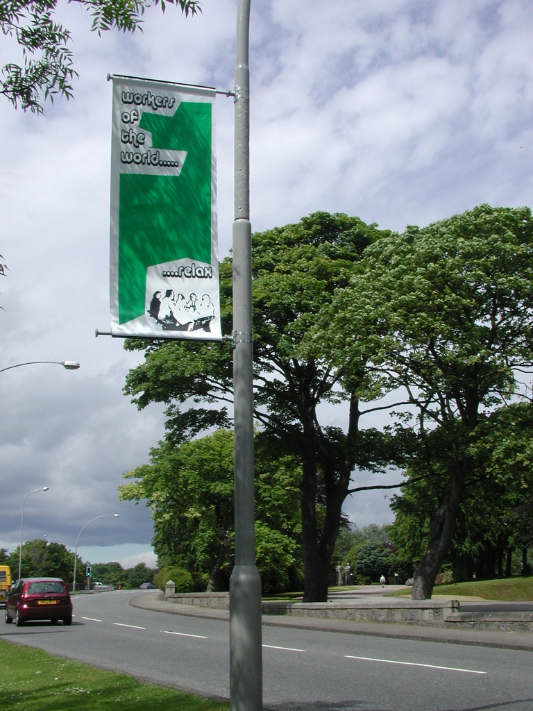 Banner in Aberdeen