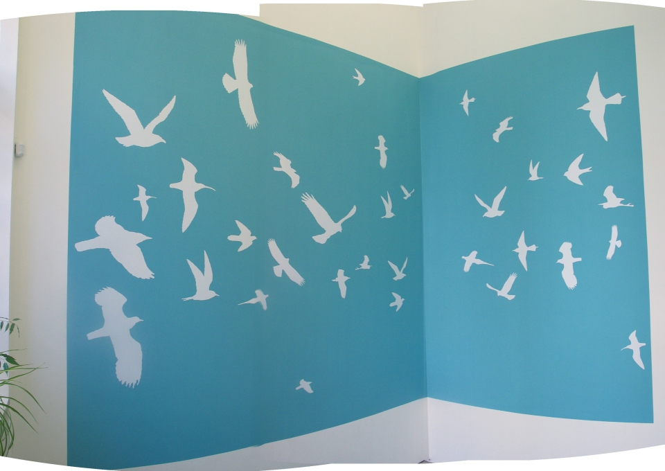 The mural of birds