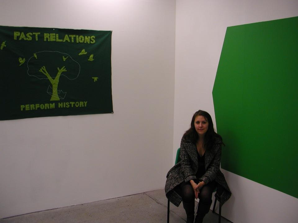Green screen capture with felt banner